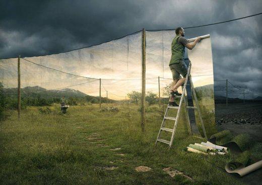 Pszichedelikus Optical Illusions svéd Photoshop mester