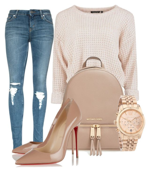 #ootd by izzymynizzle on Polyvore featuring polyvore fashion style Christian Louboutin MICHAEL Michael Kors Michael Kors clothing