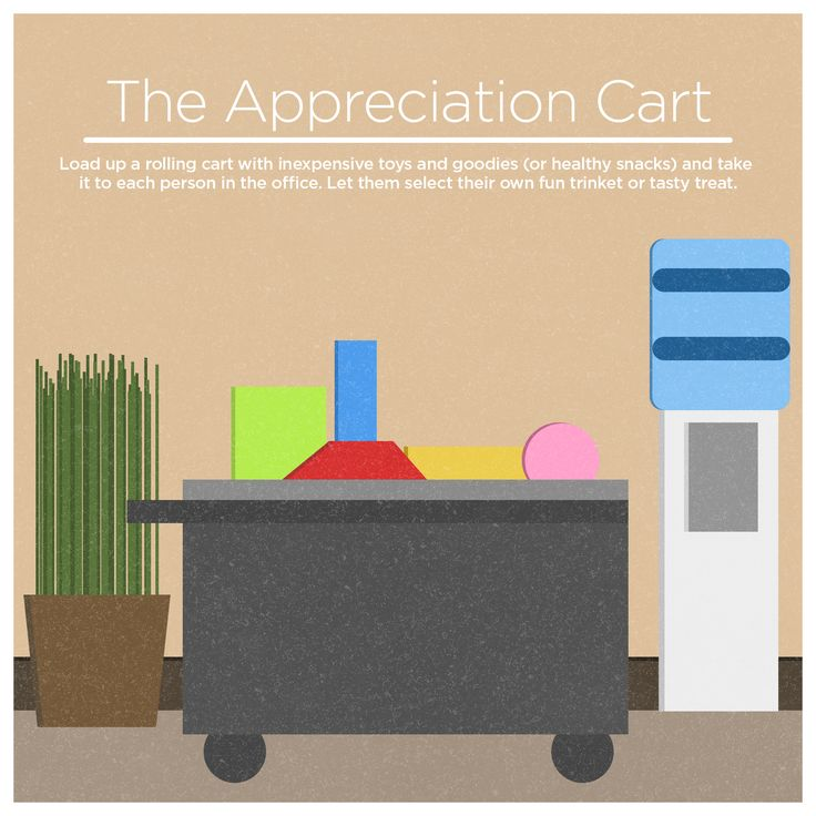 tip 1 the appreciation cart load up a rolling cart recognition ideasemployee