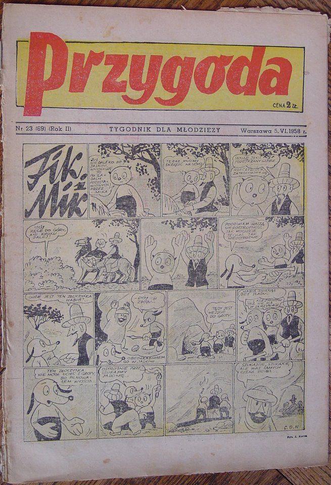 """Tygodnik """"Przygoda"""" 1958 r. #MUZEUMKOMIKSU"""