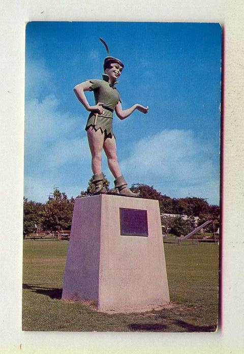 Statue Of Peter Pan Honoring Mary Martin In Cherry Park Weatherford TEXAS