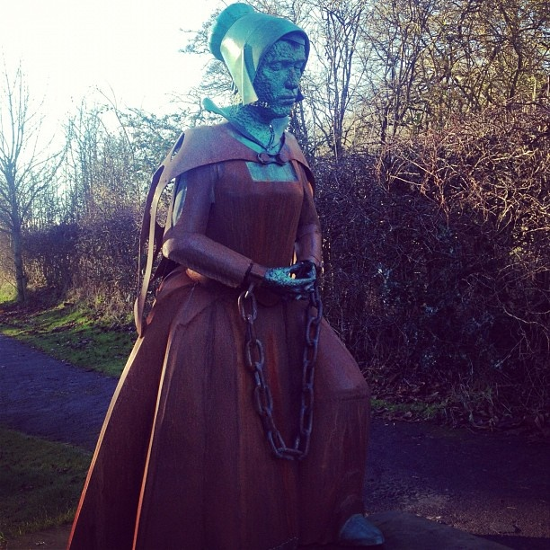 Statue of Alice Nutter, one of the Lancashire Witches - @quirkytraveller- #webstagram