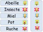Atelier Ordre Alphabétique - placer les cartes en ordre alphabétique et s'auto-corriger avec les collants