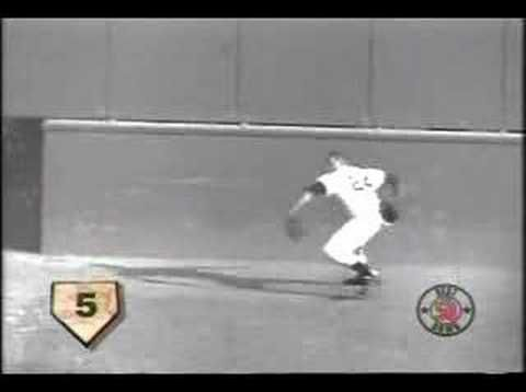 Willie Mays makes his famous catch in right field, the result of incredible talent combined with an incredible expenditure of hard work to master his craft. The world is a better place because we live in it with this great man.
