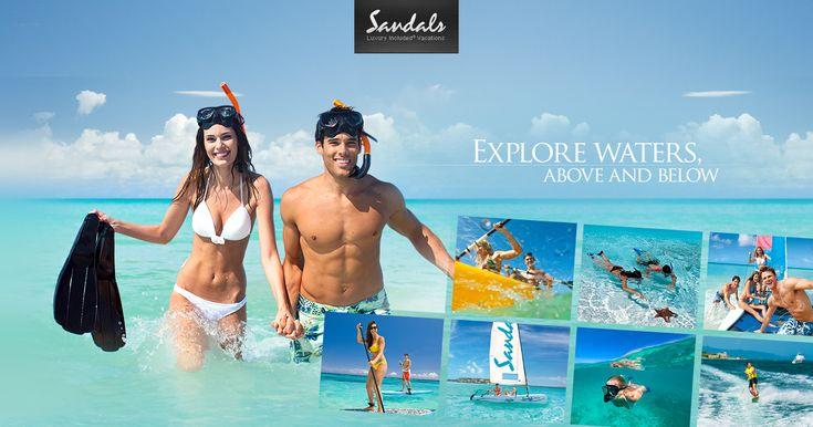 waterskiing, sailing, wind-surfing, hobie cats, glass bottom boats, aquatrikes, snorkeling, kayaking, paddle boarding