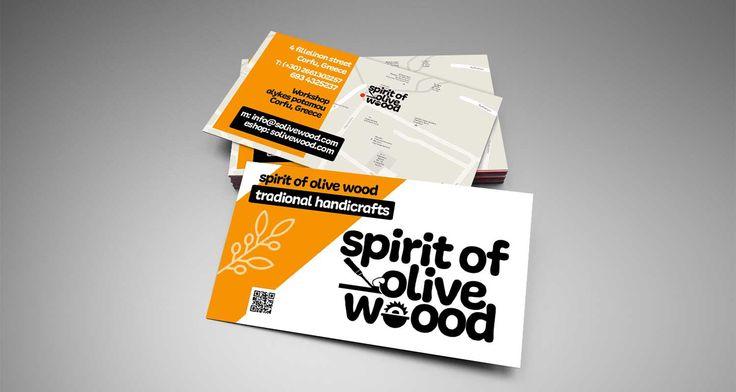 Κατασκευή επαγγελματικής κάρτας – spirit of olive wood