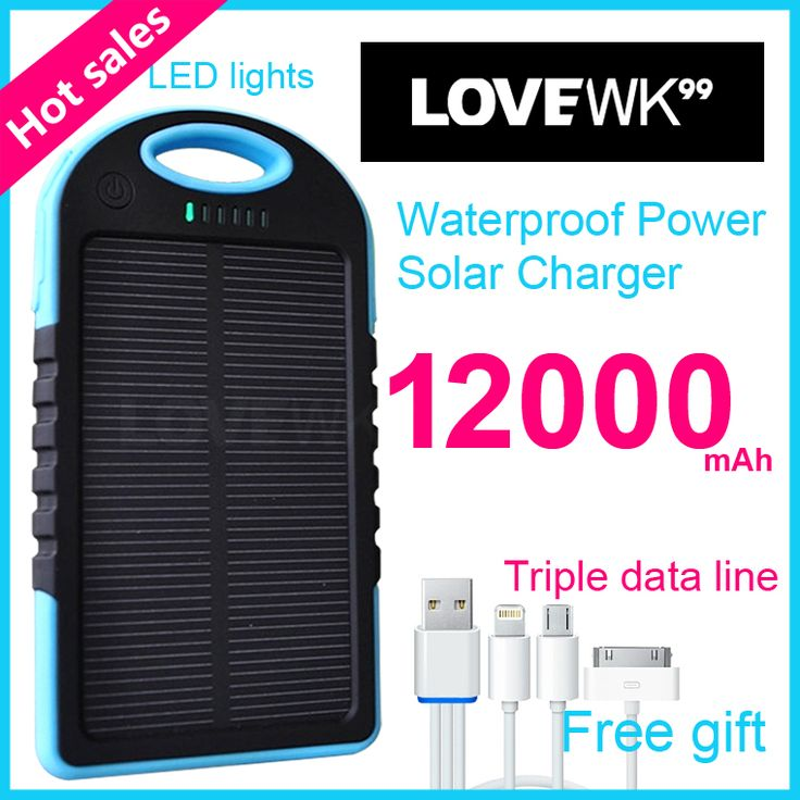 xiomi 12000 mAh Mobile Backup Power Bank Solar Charger Portable bank Universal mobile phone charger powerbank