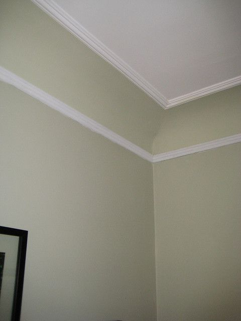 Coved Ceiling - how to paint. Interesting that they made another outline in the middle, like it!