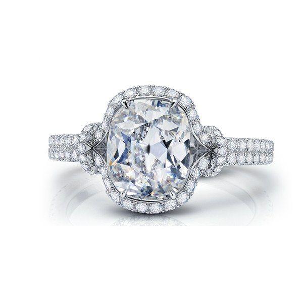 Oval diamond halo engagement ring, price upon request, Martin Katz