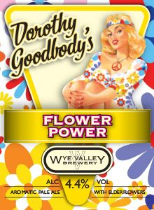 Dorothy Goodbody's Flower Power- July  By adding freshly picked elderflowers to a base of pale golden malts, Flower Power captures the flavour of summer in a glass. Peace! 4.4% ABV