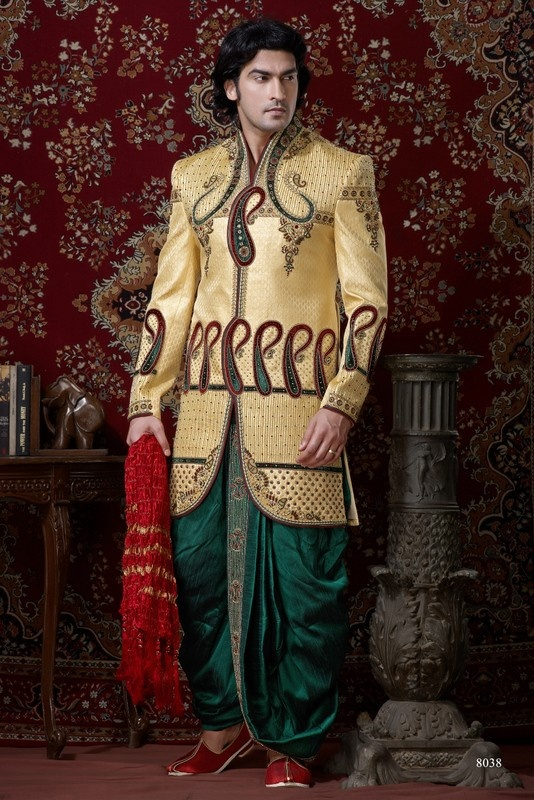 Sherwani For Men : Sherwani Designs, Designer, Groom & Wedding Sherwanis. We are Jugniji.com selling Indian wedding sherwanis online and on this page you can buy @ Shop online at http://jugniji.com/mens-collection/western-look-sherwani/western-sherwani-2116.html