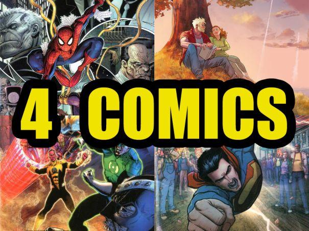 4 Comics: Superman #40, Amazing Spider-Man #20, Ringo #12 e Lanterna Verde #41