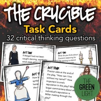 The Crucible Act   QUESTIONS ESL Printables