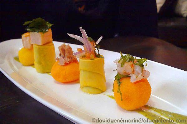 Receta criolla: Causitas Limeñas 2.12, Rico plato de la cocina tradicional peruana con un toque mediterráneo servido en forma de piqueo... - A FUEGO LENTO
