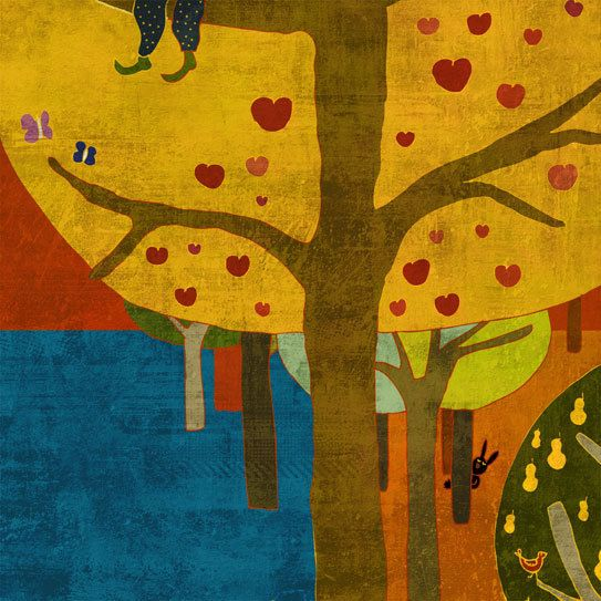 Sitting on the tree by schalle on Etsy, $25.00- Want to redecorate for Fall with these colors.