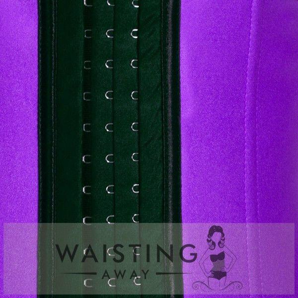 Purple 4 Steel Bone Latex Waist Trainer Corset