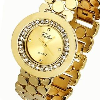Women's Gold plated Watch made with SWAROVSKI® ELEMENTS AU$94.90 with Free Delivery* at Red Wrappings
