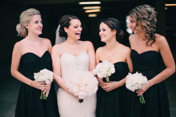 Black Strapless Bridesmaids Dresses   photography by http://www.blainesiesserphotography.com/