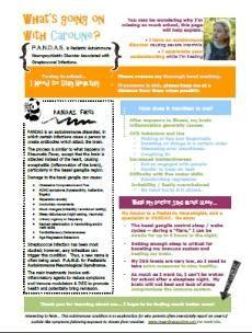 PANDAS Information - Caroline
