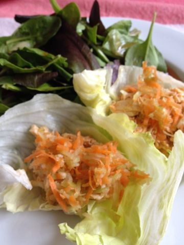 Yummy and easy crockpot buffalo chicken. Low fat, low carb, low cal too!