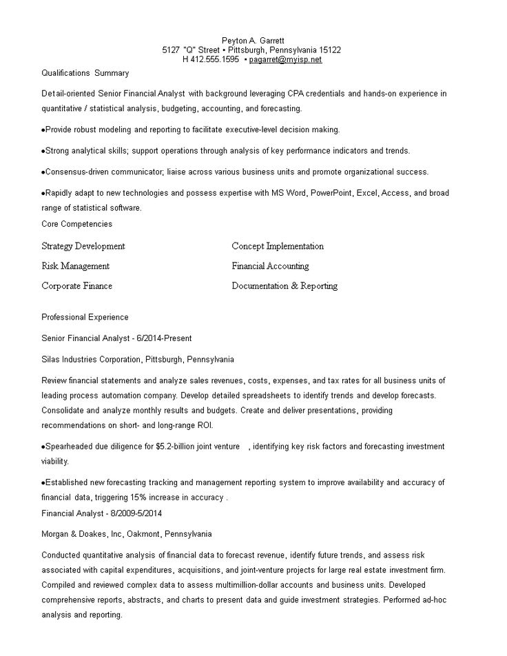 Business Analyst Finance Resume How to create a Business