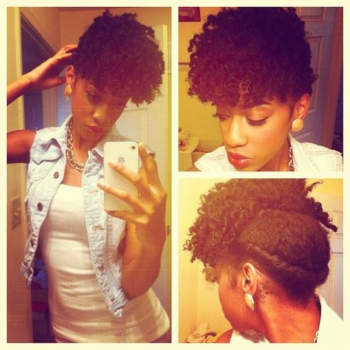 Curly front, Flat Twist back | this is different!.. I attempted something like like this with failure this is the inspiration to try again
