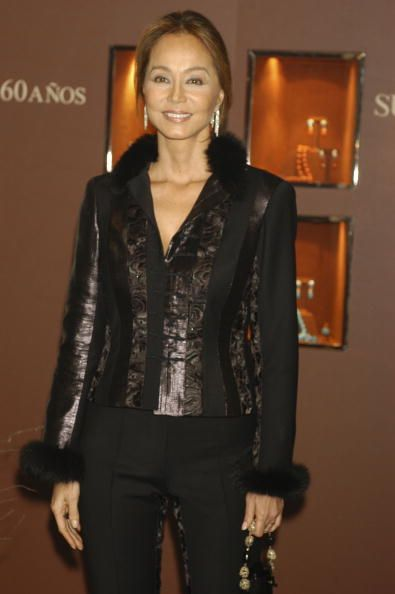Isabel Preysler at the party for the 60 anniversary of the first collection of Suarez Jewels