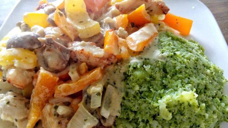 Kip met boursin ovenschotel | Koolhydraatarm