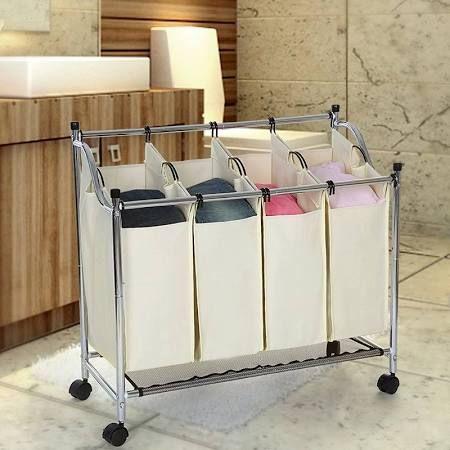 Die besten 25+ Wäschekorb mit rollen Ideen auf Pinterest - badezimmerschrank mit wäschekorb