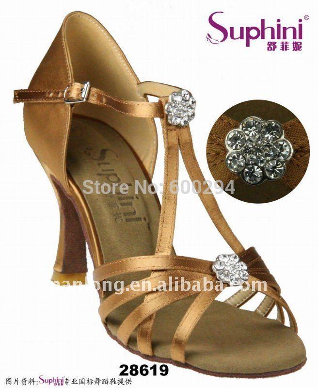 Горный хрусталь Женщина Платье Обувь, высокое Качество Атласная Танцевальная Обувь, Танцевальная Обувь Бесплатная Доставка