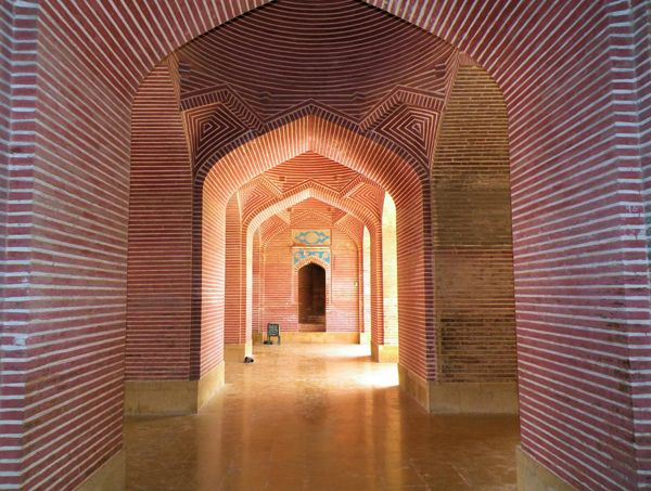 The Shah Jahan Mosque was constructed between 1644 and 1647 during the reign of the Mughal emperor, Shah Jahan. The structure is composed primarily of red bricks and embellished with blue glazed tiles...