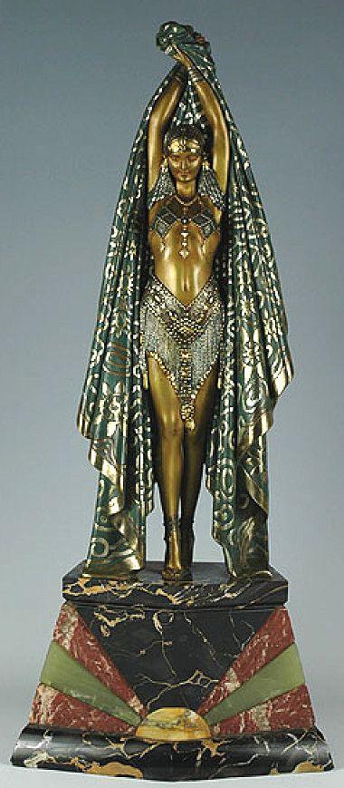 Demetre Chiparus - Art Déco - Sculpture 'Antinéa'