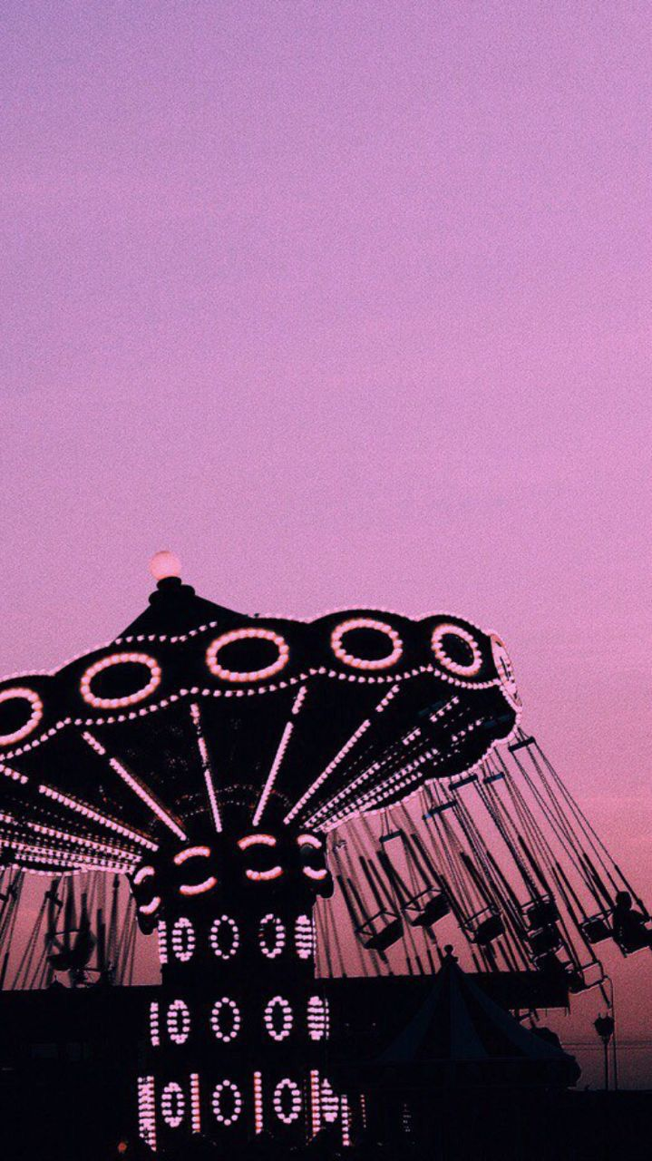 aesthetic iphone wallpaper tumblr pink sky adventure park