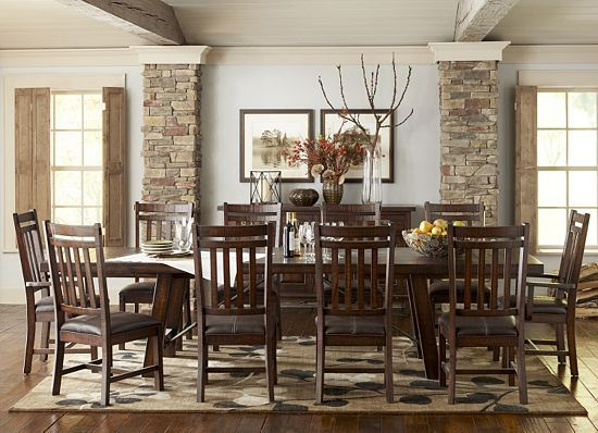 Havertys Dining Rooms Arden Ridge Trestle Table