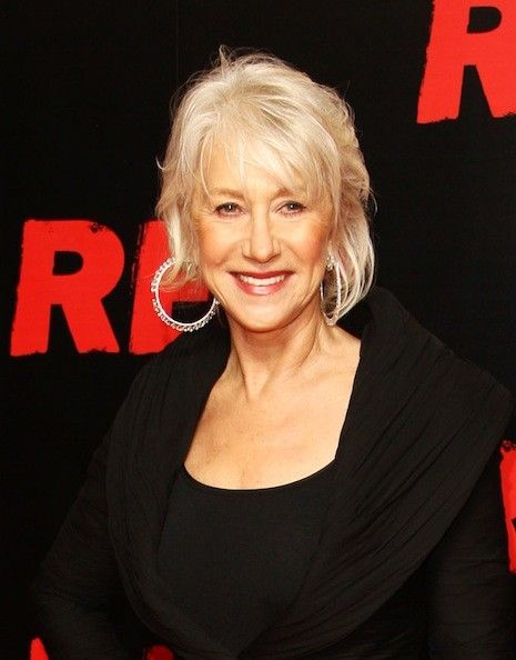 "Helen Mirren would rather not be the poster woman for aging gracefully. In fact, she's ""a bit cross"" that she's been getting so much attention for her looks in recent years. She told The Hollywood Reporter, ""We have to let go of this crap. It creates even more pressure on women, and I certainly don't want to be a part of that. I'm not beautiful; I clean up nice ... The fact that I look good at the age I am is bloody irrelevant."""