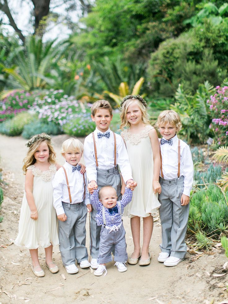 Vintage flower girl and ring bearer looks - so chic!  Joni + Conner // San Diego Botanic Gardens Wedding | Troy Grover   Photographers Blog - Orange County Wedding Photographers