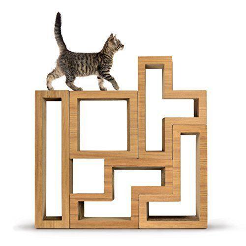 Modular Climbing Cat Tree and Scratching System by Katris - Teak – PetsOwnUs