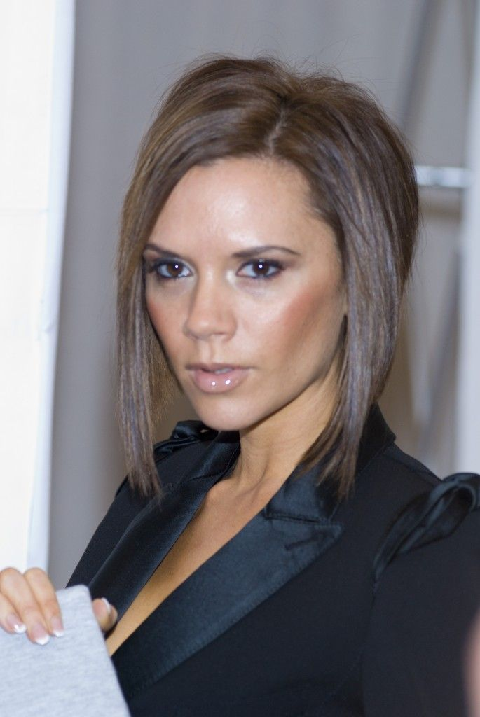 Victoria Beckham's long stacked bob... this is what I'm aiming for this weekend :)