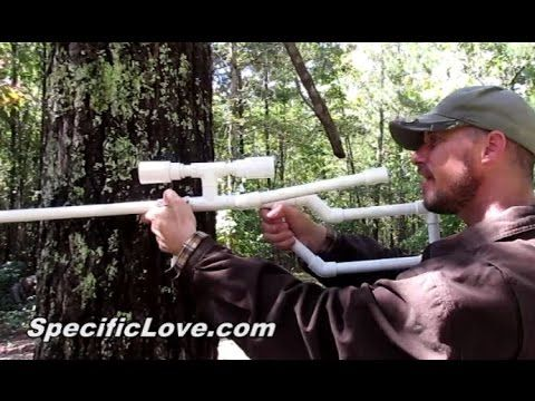 "PVC Marshmallow Sniper Rifle   How to make a marshmallow shooter, but not your run of the mill setup. I want to show you how to make a marshmallow gun that your friends will go, ""Whoa, that is cool!""   You can put a marshmallow in any pipe, but this is an awesome Marshmallow Gun Sniper Rifle. It has a scope and a strap-on laser, so before they get a chance to ask you about it, you can spot them with the laser and hit them with a marshmallow. homemade…"
