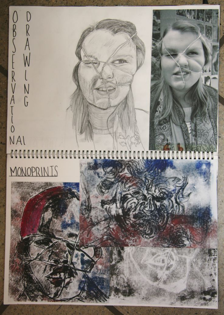GCSE Sketchbook Page 2014