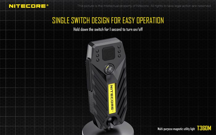 Nitecore T360M 45LM Magnetic USB Rechargeable LED Work Light