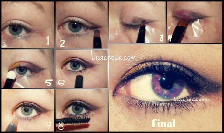 tuto maquillage rose, marron, or