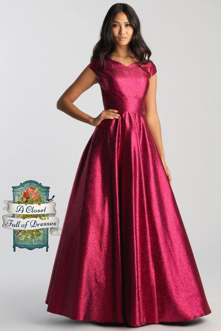 Mj 20 507m Fuchsia Modest Prom Dress In 2020 Prom Dresses Modest Prom Dresses With Sleeves Prom Dress Inspiration [ 1102 x 735 Pixel ]