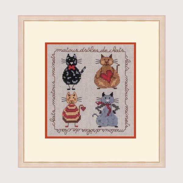Collection Chats Bonheur des Dames réf. 2271 création Cécile Vessière