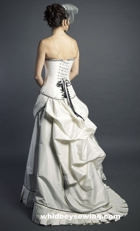 Love this skirt Steampunk Wedding Dress SAMPLE ON SALE by PatricianDesignsEtc, $880.00