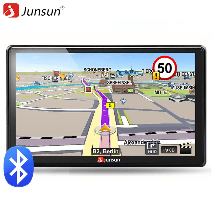 Junsun 7 inch HD Car GPS Navigation FM 8GB 256M DDR Map Free Upgrade Navitel Europe Sat nav Truck gps navigators automobile ** Click the VISIT button to enter the website