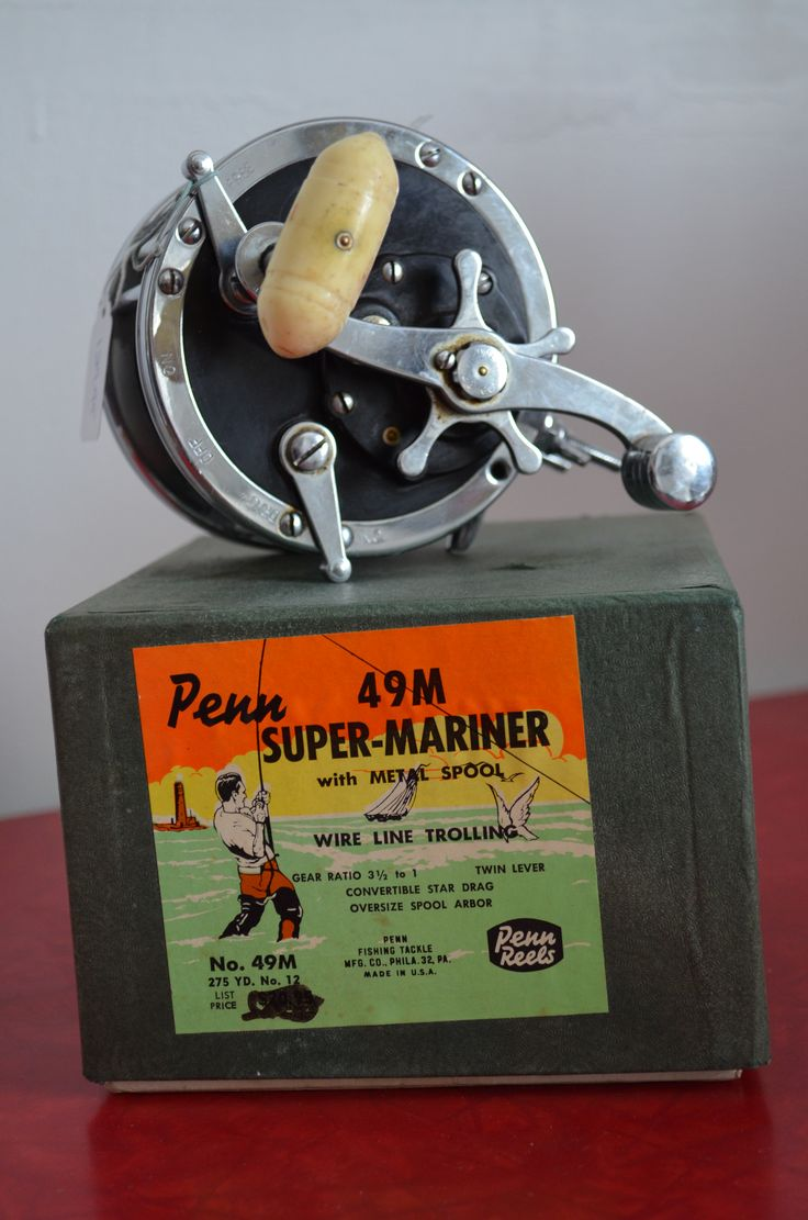 Vintage Penn No.49M Super-Mariner Wire Line Salt Water Reel http://cnctbay.wix.com/crowe-s-nest#!home/mainPage