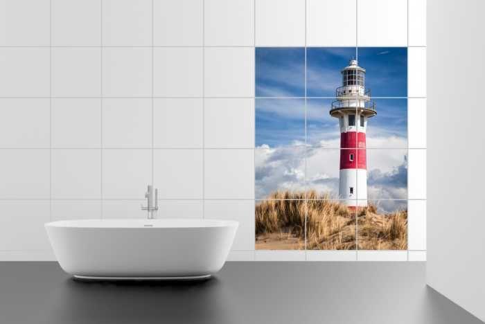 Fliesenaufkleber, Fliesenbilder und Fliesenlack - Fliesenbilder - Fliesenbild Lighthouse in Nieuwpoort