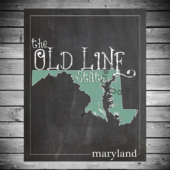 8x10 State of Maryland  Printable Digital by CreativeCardstock, $10.00
