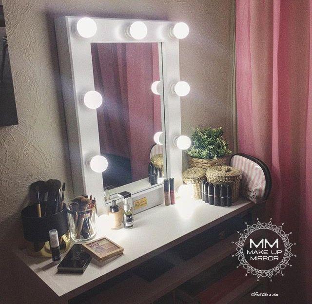 """""""Бэверли-Хиллз 9"""" - идеально подойдёт для туалетного столика в спальне или небольшой студии! Размер: 600х400х65 мм 9 светодиодных ламп для макияжа в комплекте! Возможно изменить цвет!"""